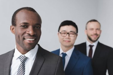 multiethnic young businessmen