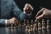 Fotografie podnikatelé hrál šachy