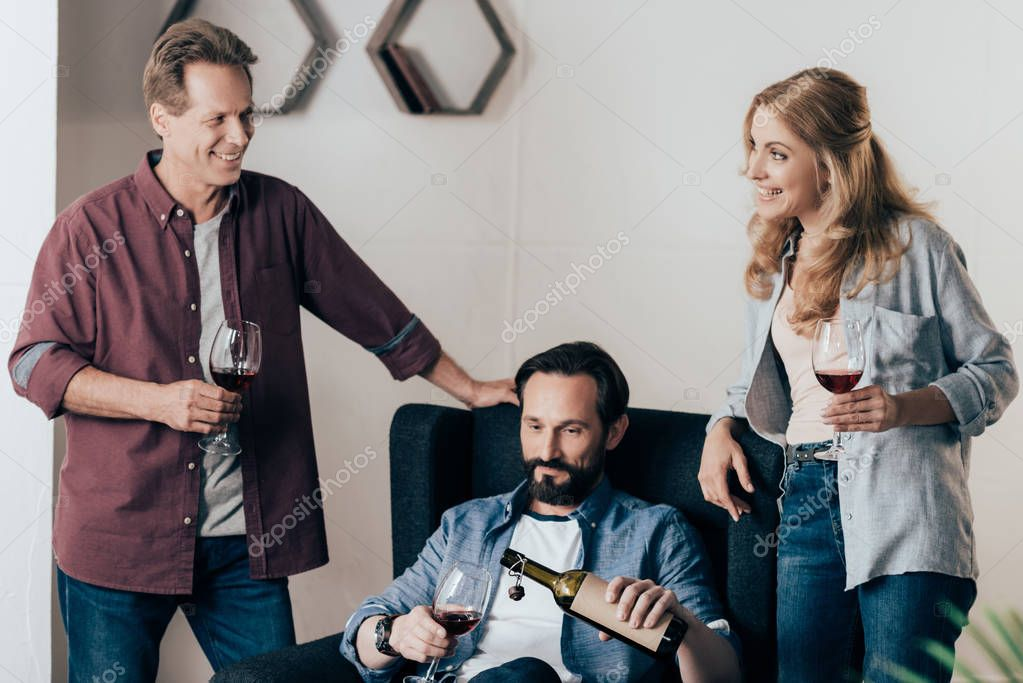 friends drinking wine