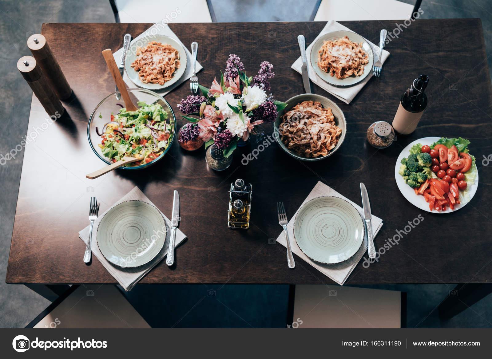 Table served for dinner stock photo tarasmalyarevich for Table for dinner