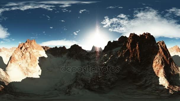 légi panorama kanyon a naplemente. készült a kamerával egy Vr-360 fokos lencse nélkül bármilyen varratok. készen áll a virtuális valóság 360