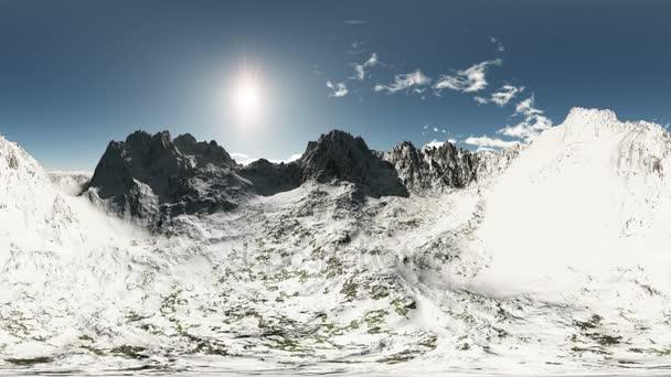 légi vr 360 panoráma a hegyek. a egy 360 fokos lencse fényképezőgép minden varrás nélkül készült. készen áll a virtuális valóság