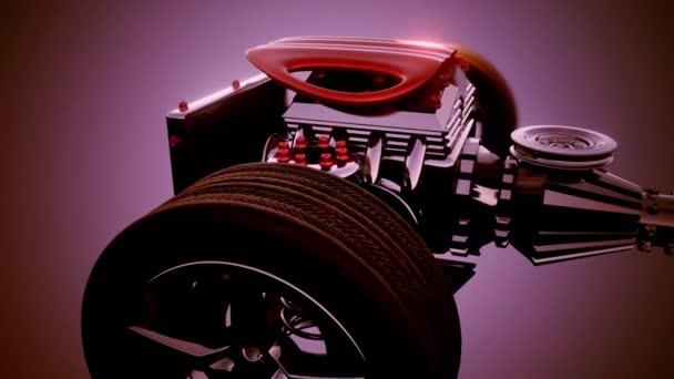Fahrgestell mit Motor und Rädern