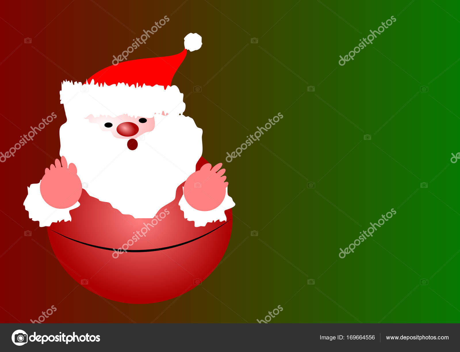 Santa Claus doll in Christmas day on color background with copy ...