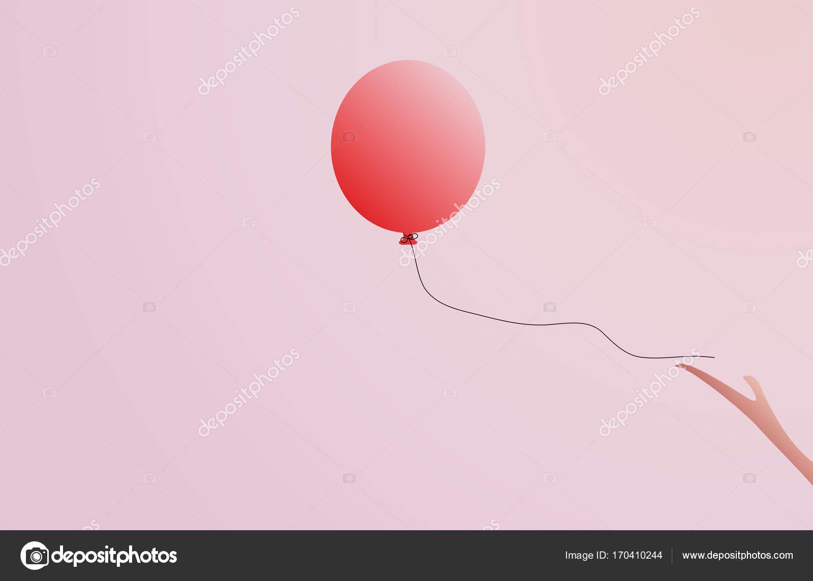 Roze Ballon Grote Ronde Roze Ballon Met Lange Lint Glanzende