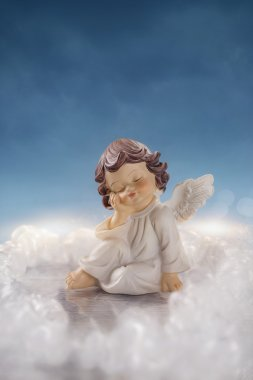 Little angel in the clouds