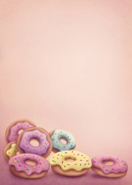 Pastel colored donuts