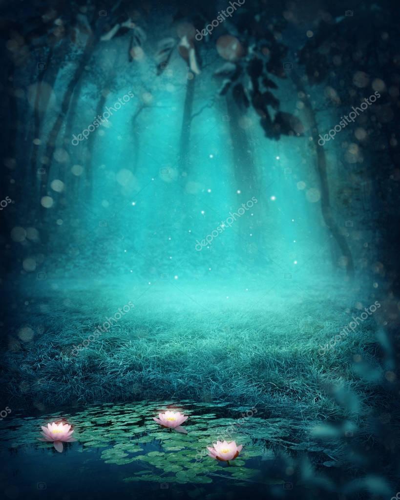 Фотообои Dark magic forest