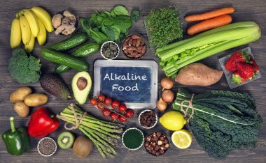 Alkaline foods above background