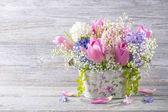 Pastelově barevné květiny