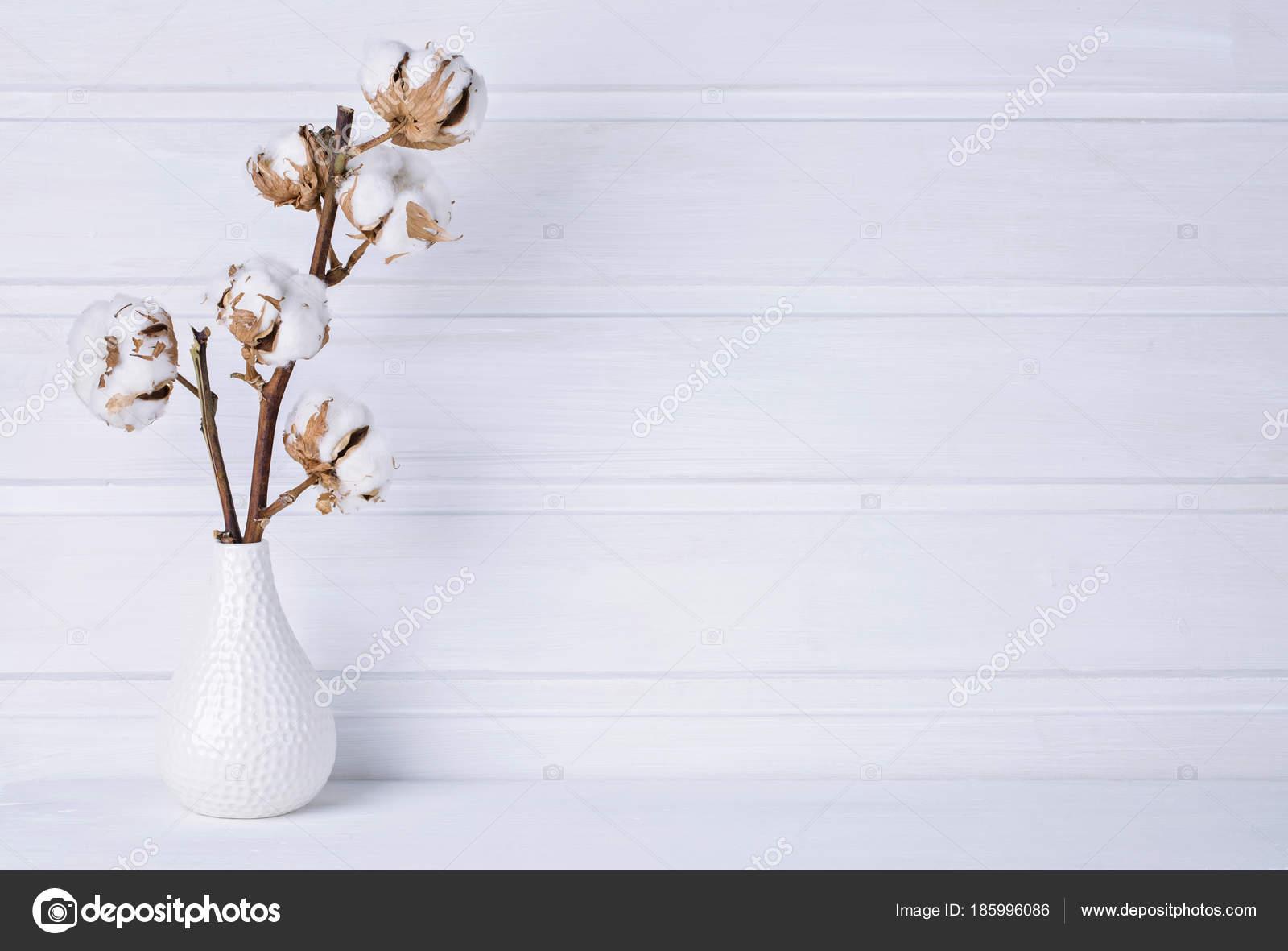 Vase Fleurs De Coton Mit Photographie Egal C 185996086