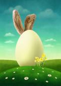 Velké bílé vejce.
