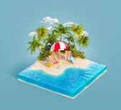 Lehátka na pláži s pískem