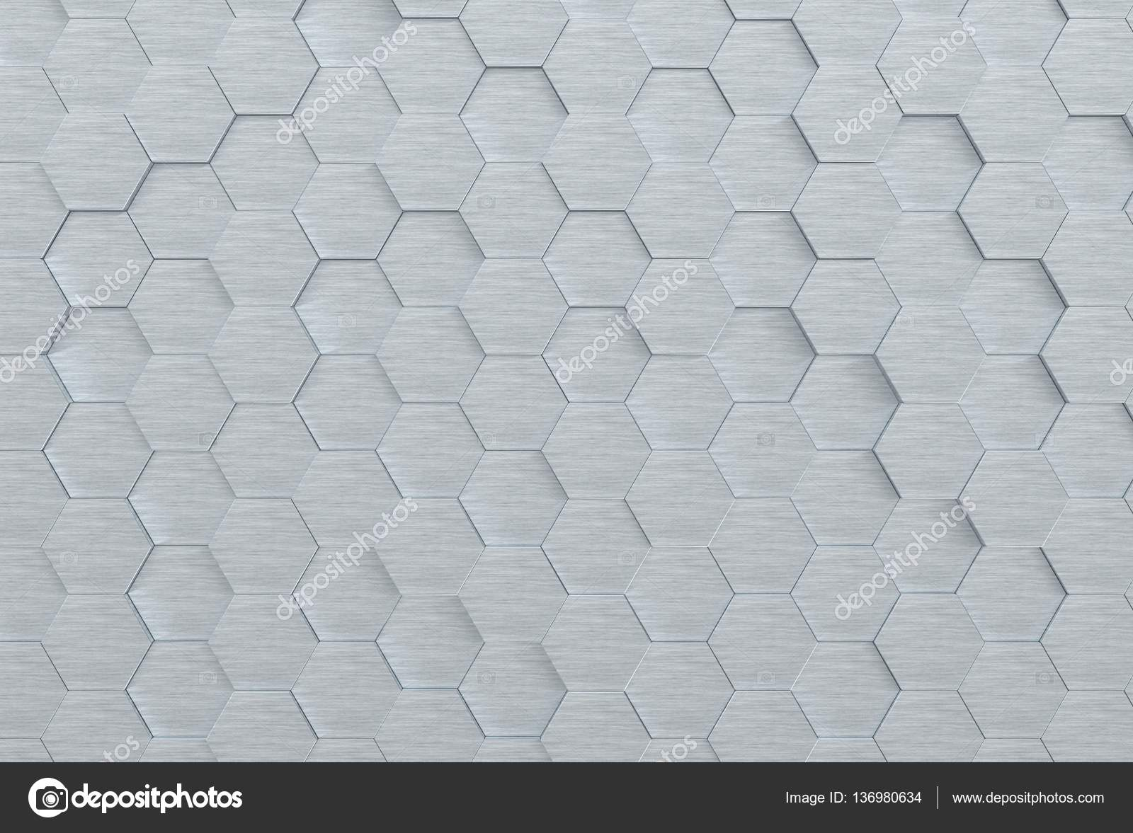 Texture di sfondo metallo esagonale d render u foto stock