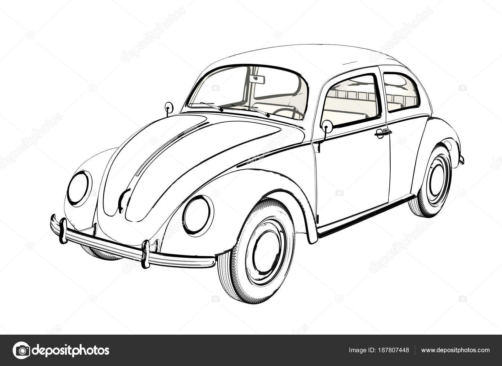 volkswagen beetle ilustra u00e7 u00e3o stock ilustra u00e7 u00e3o de pequeno