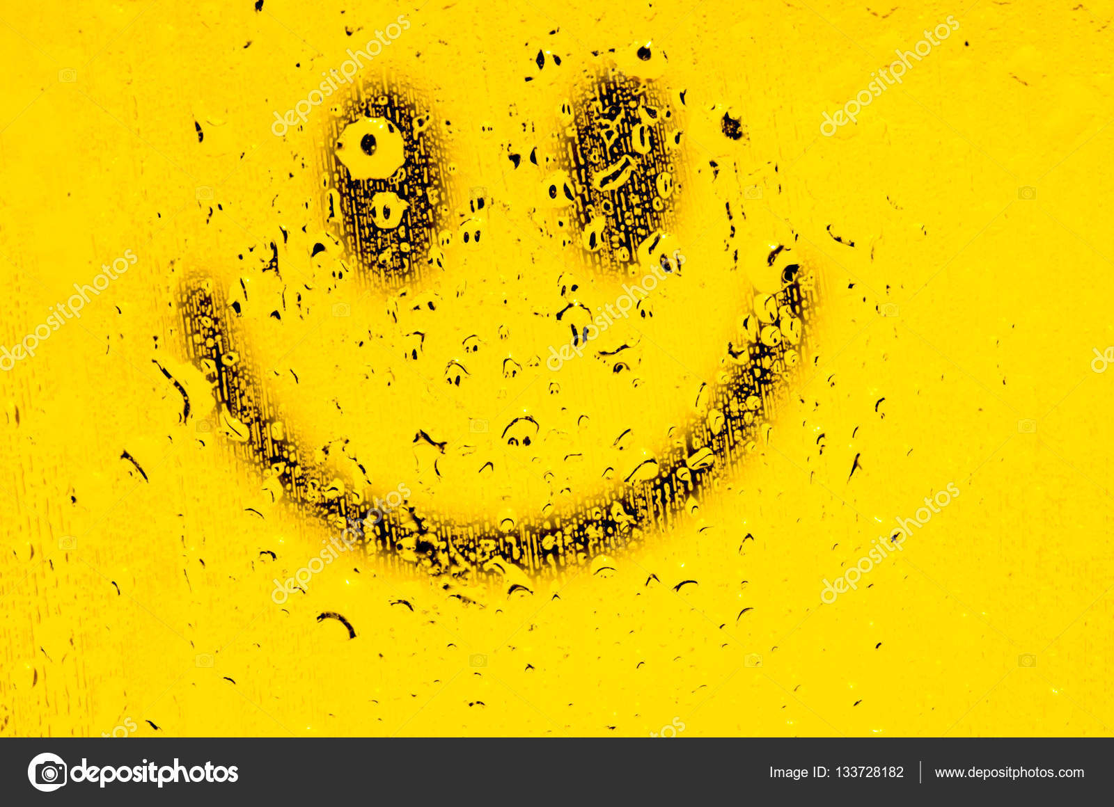 Smiley face yellow smile poster stock photo lomakaster 133728182 smiley face yellow smile poster world smile day funny yellow smiley and water drops a drop of water on a yellow background smiley wallpaper altavistaventures Images