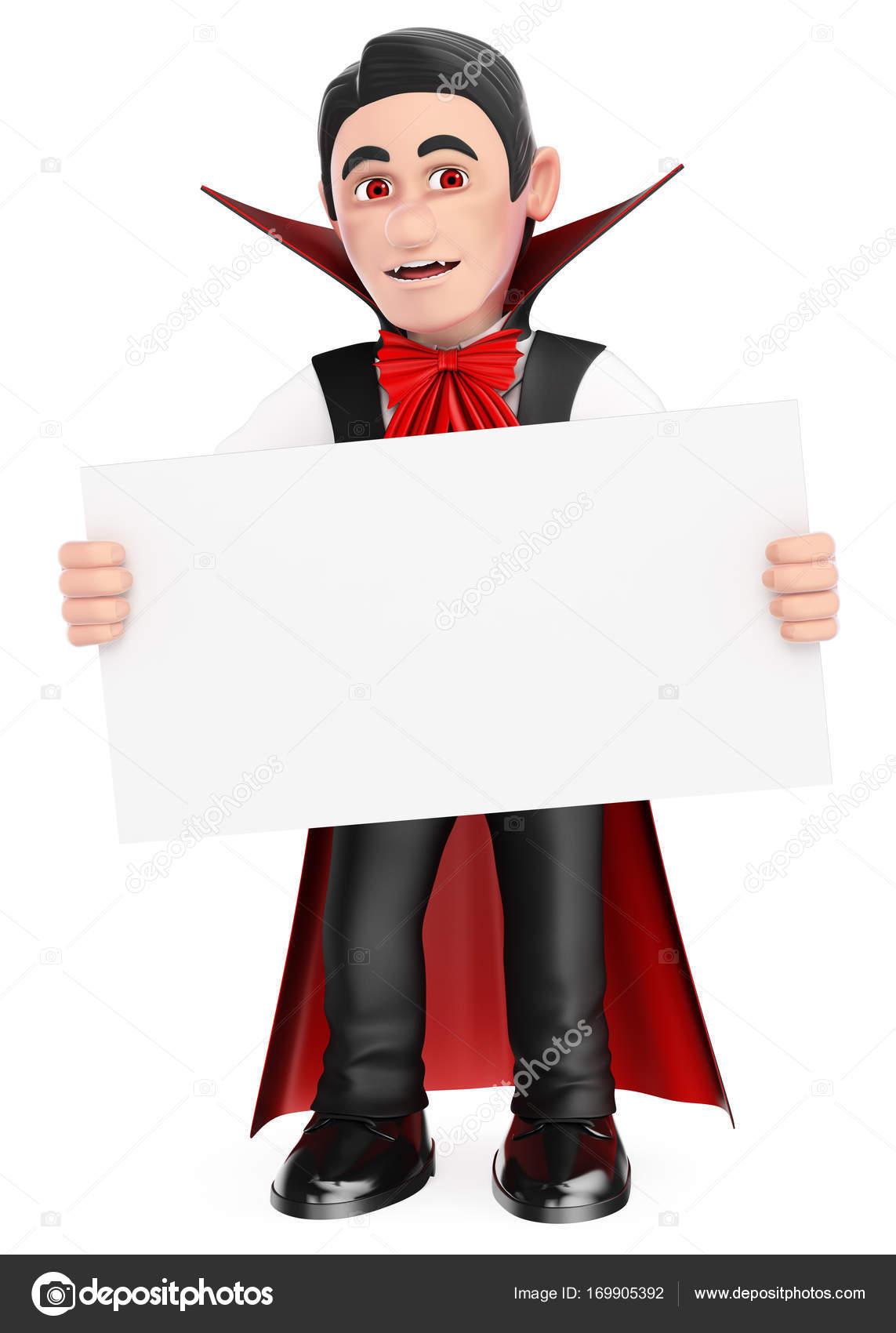 3d monstre dr le vampire avec une affiche vierge - Image halloween drole ...