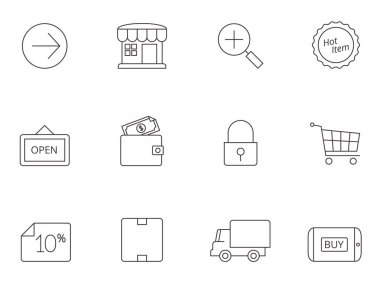 Ecommerce icons series