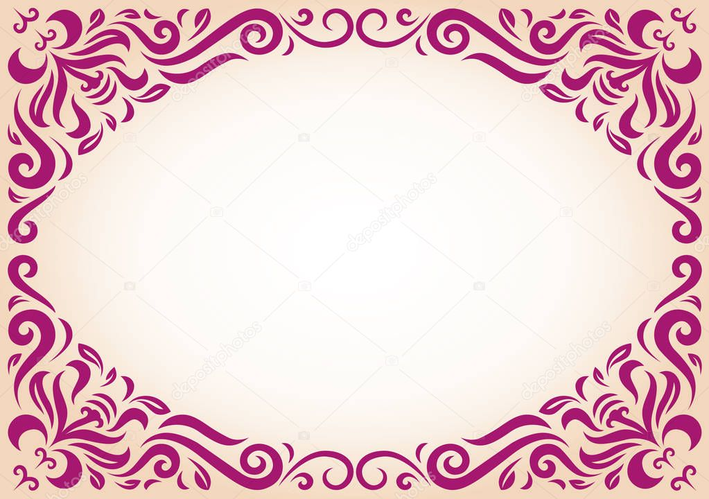 Maroon ornament text frame