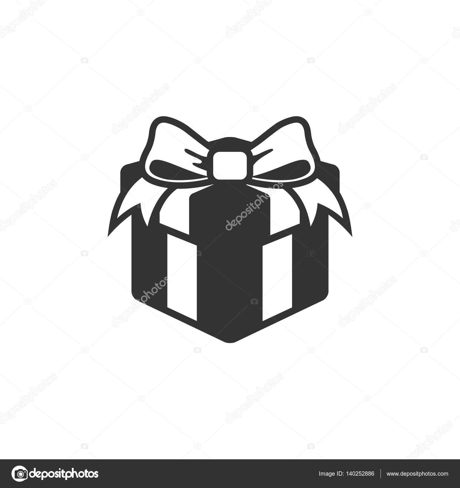 Gift box icon in single grey color stock vector puruan 140252886 gift box icon in single grey color stock vector negle Gallery