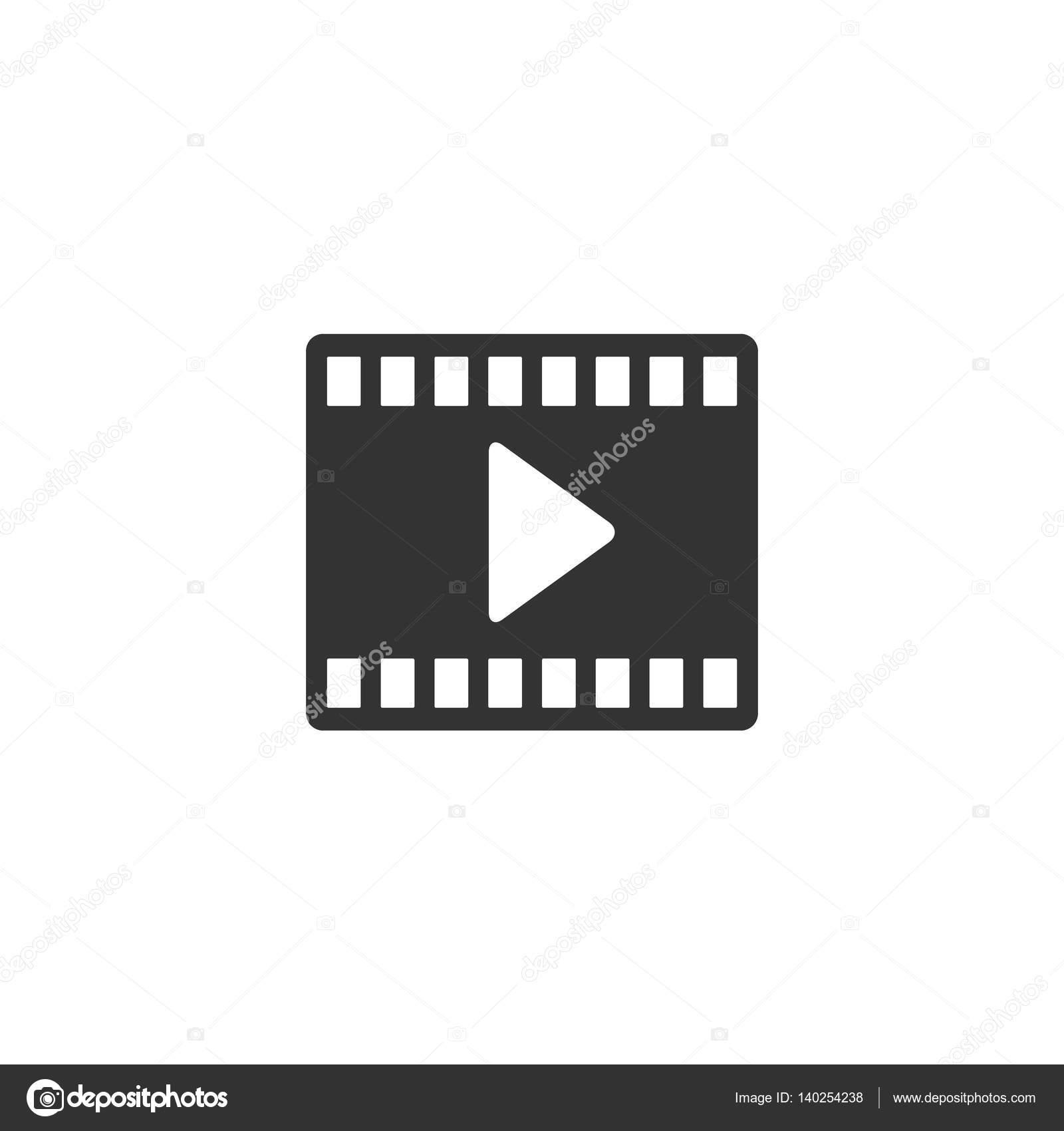 Movie Play Symbol Icon Stock Vector Puruan 140254238