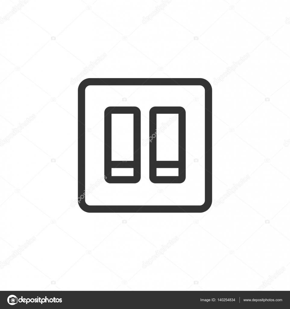 Elektrische Schalter Symbol — Stockvektor © puruan #140254834