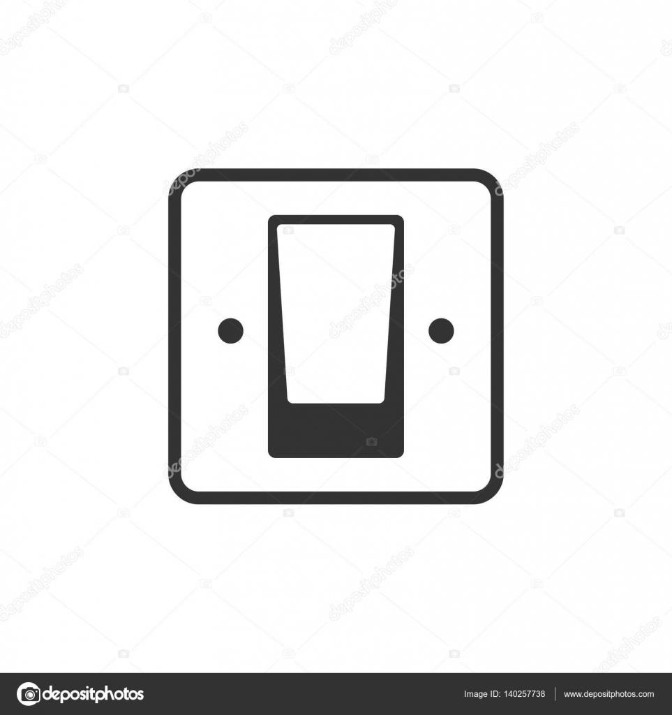 Elektrischer Schalter Symbol — Stockvektor © puruan #140257738