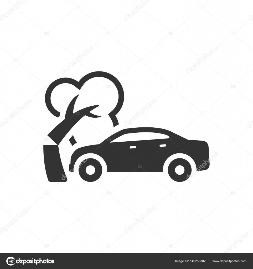 Car crash icon — Stock Vector © puruan #140258302