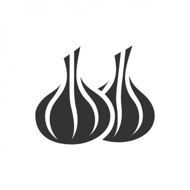 Garlic icon in single color