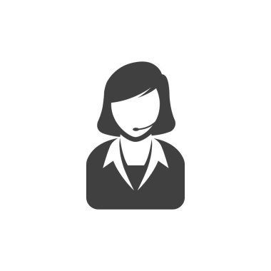 Female receptionist icon
