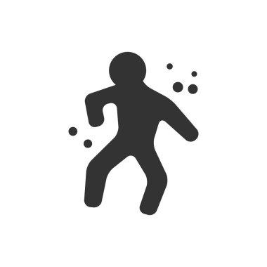 Crime victim icon