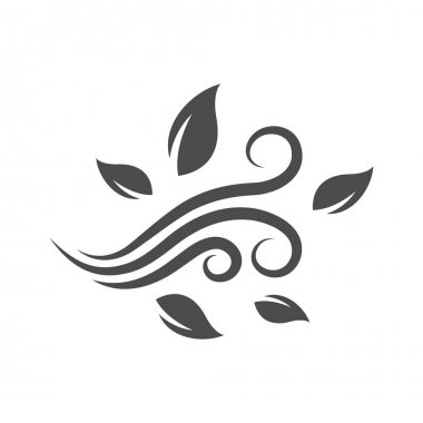 Blowing leaves icon