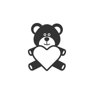 Teddy holding heart shape