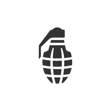 Grenade icon in single color.