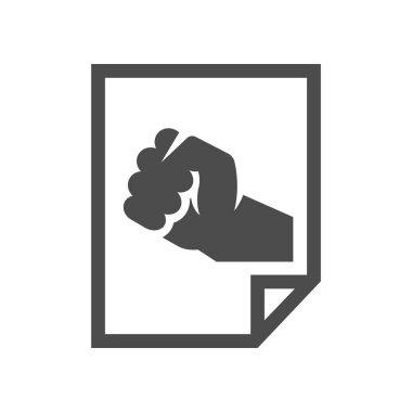 Hand fist icon