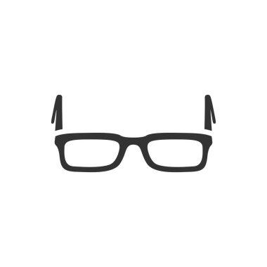 Eyeglasses icon in single grey color.