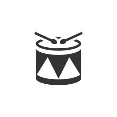 Drum icon in single color.