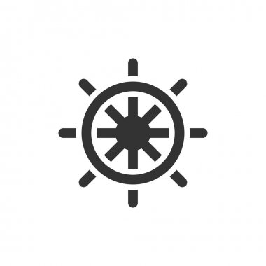 Ship steer wheel icon