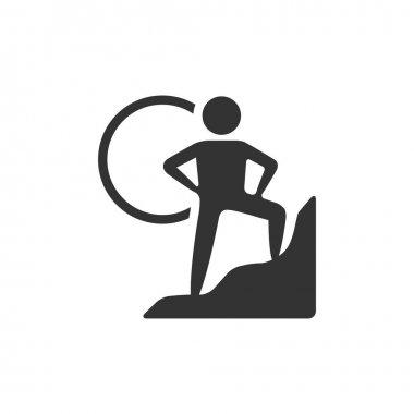 Rock climbing icon