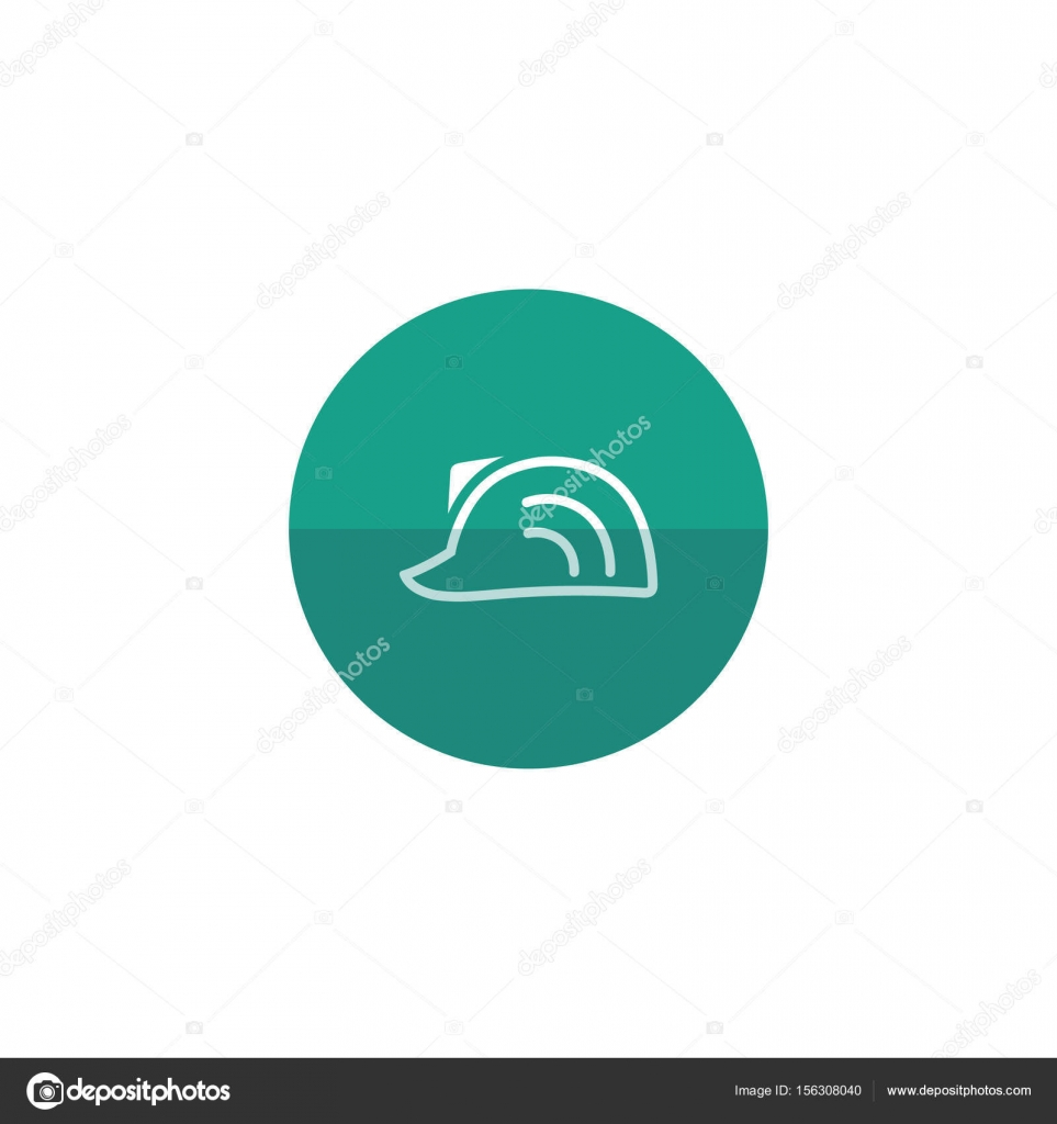 Hard hat icon — Stock Vector © puruan #156308040