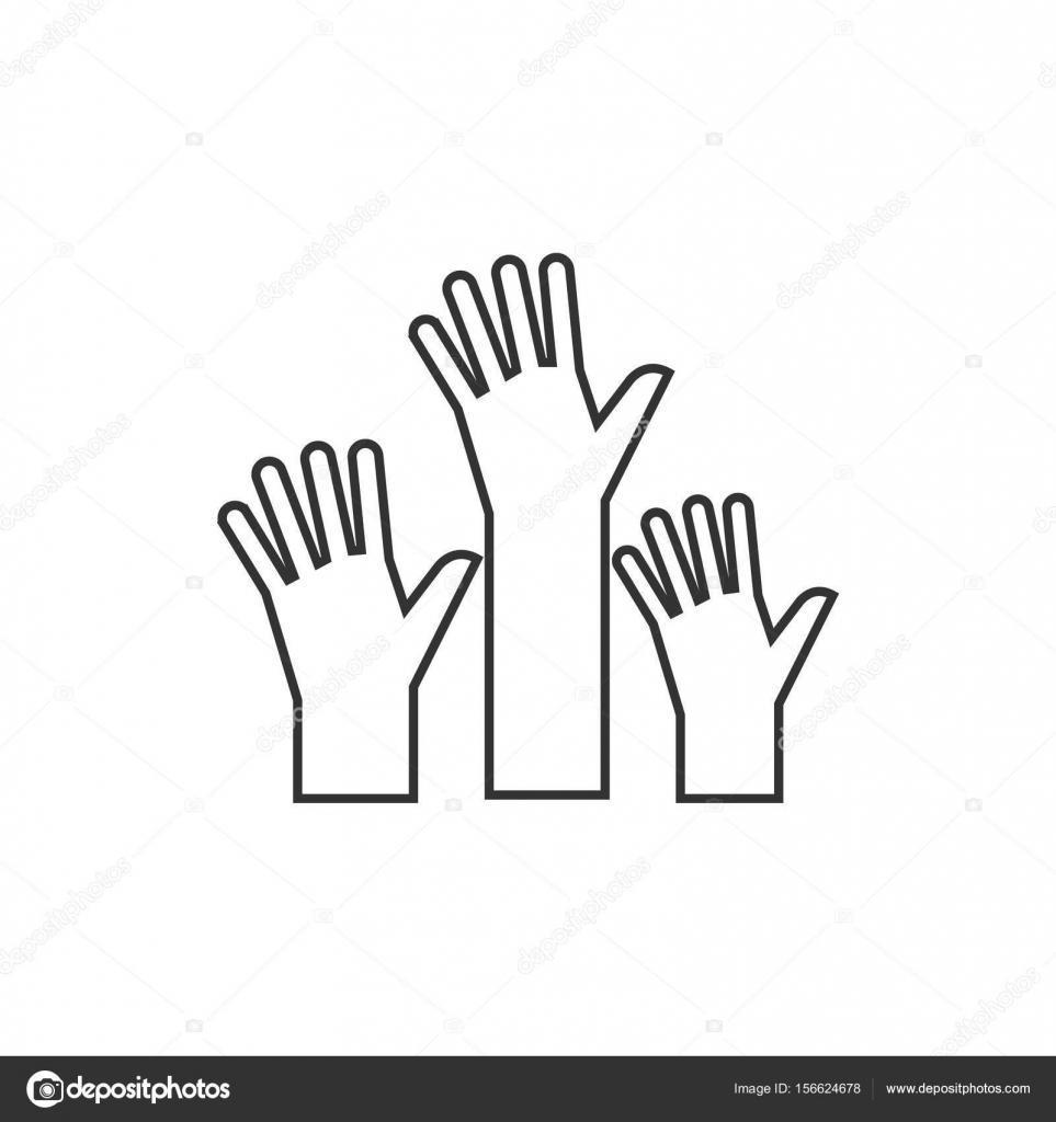 Gestaltung von Hände-Symbol — Stockvektor © puruan #156624678