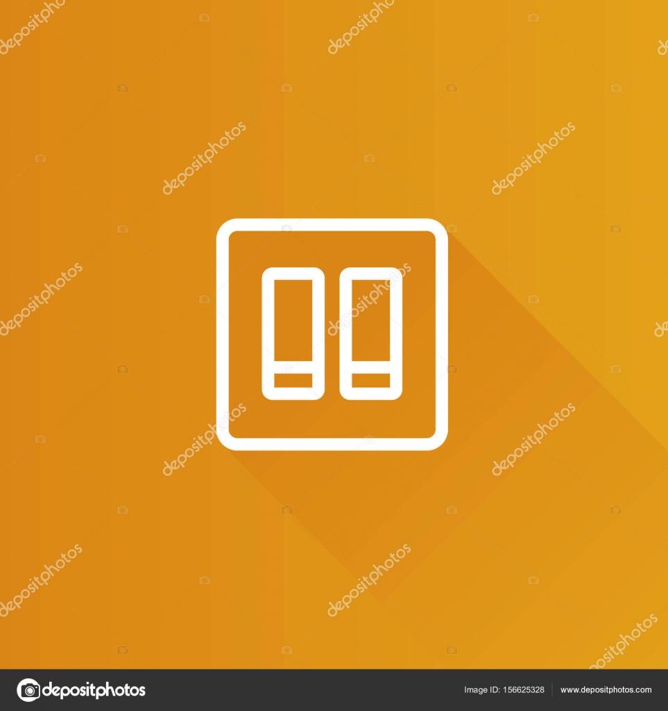 Metro-Symbol - elektrischer Schalter — Stockvektor © puruan #156625328