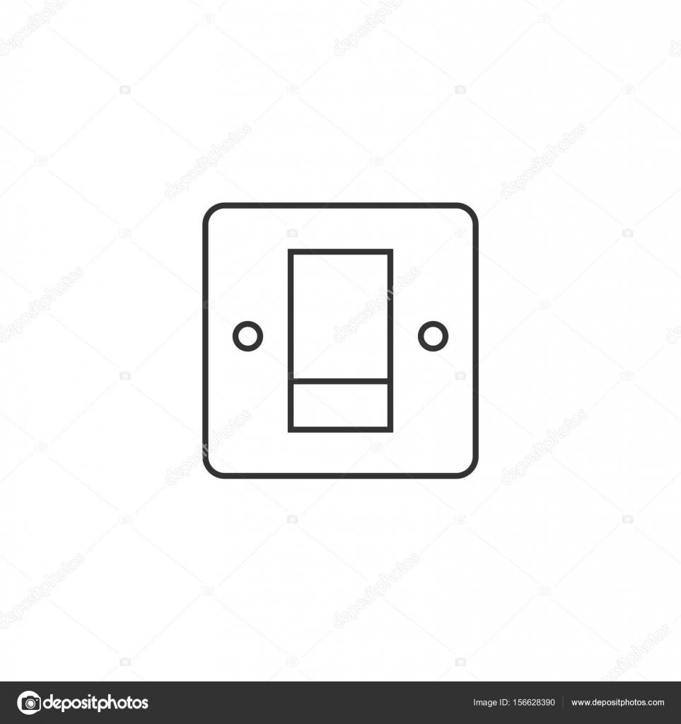 Übersicht-Symbol - elektrischer Schalter — Stockvektor © puruan ...