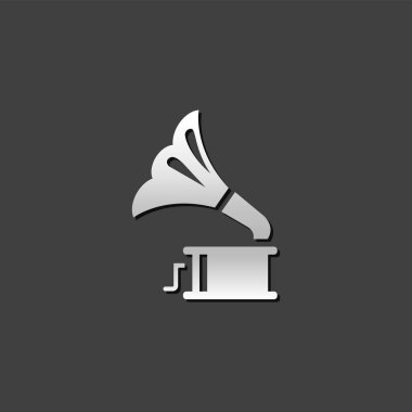Metallic Icon - Gramophone
