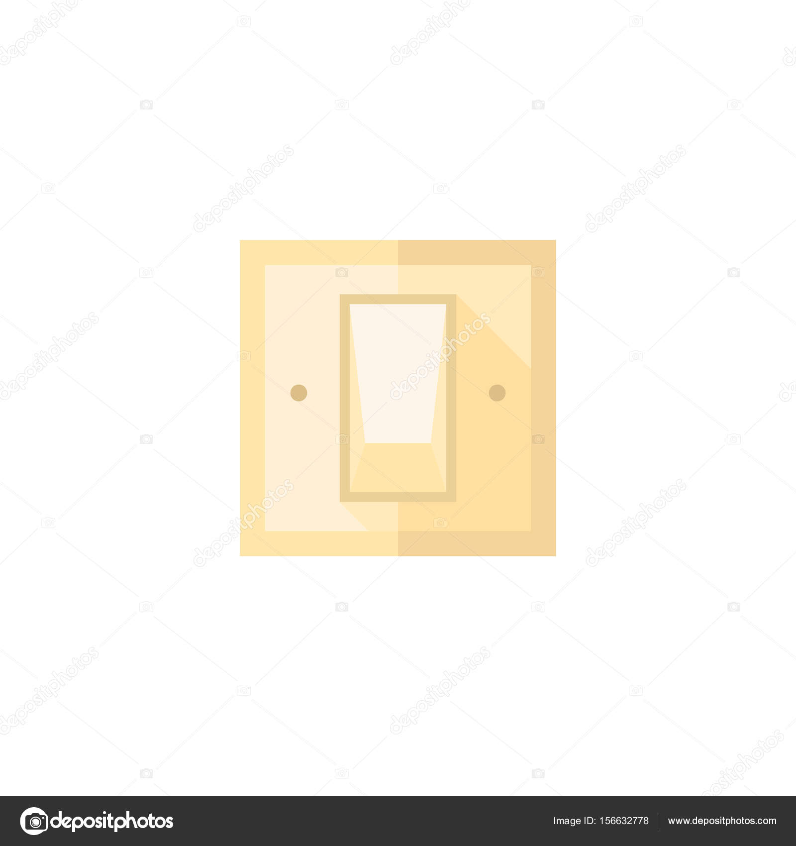 Flach-Symbol - elektrischer Schalter — Stockvektor © puruan #156632778