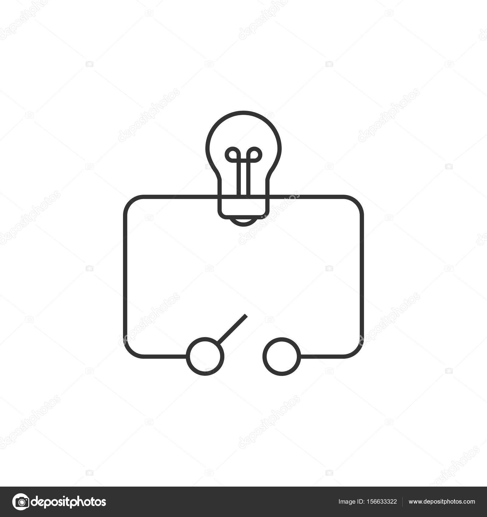 Übersicht-Symbol - Schalter-Diagramm — Stockvektor © puruan #156633322