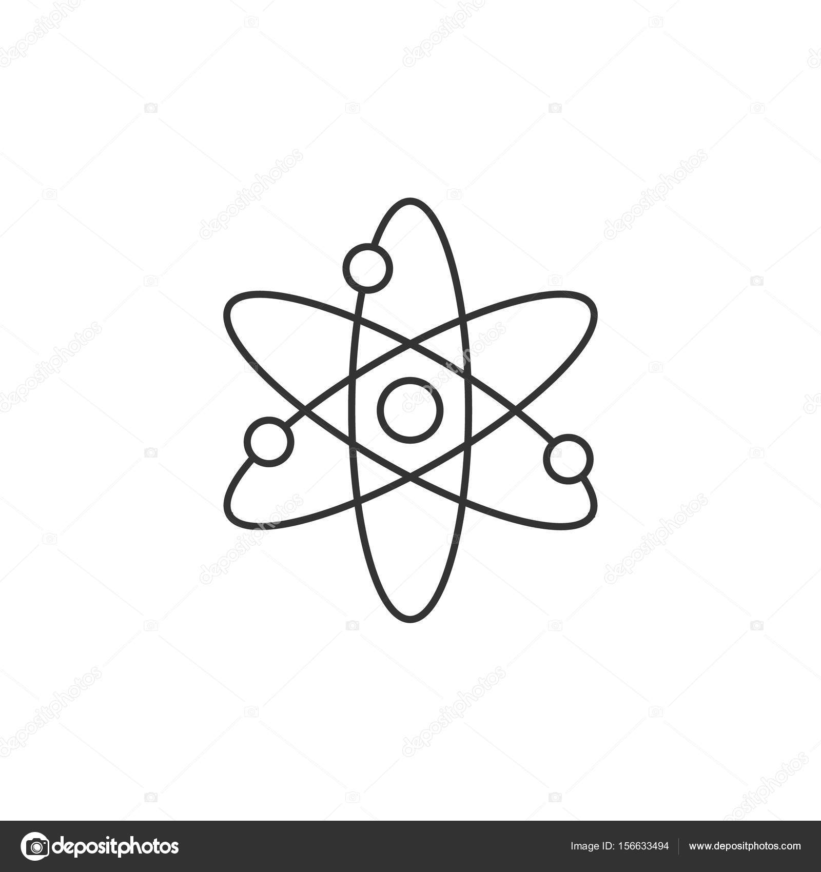 Outline icon atom structure stock vector puruan 156633494 atom structure icon in thin outline style science technology school college education molecule particles vector by puruan ccuart Image collections