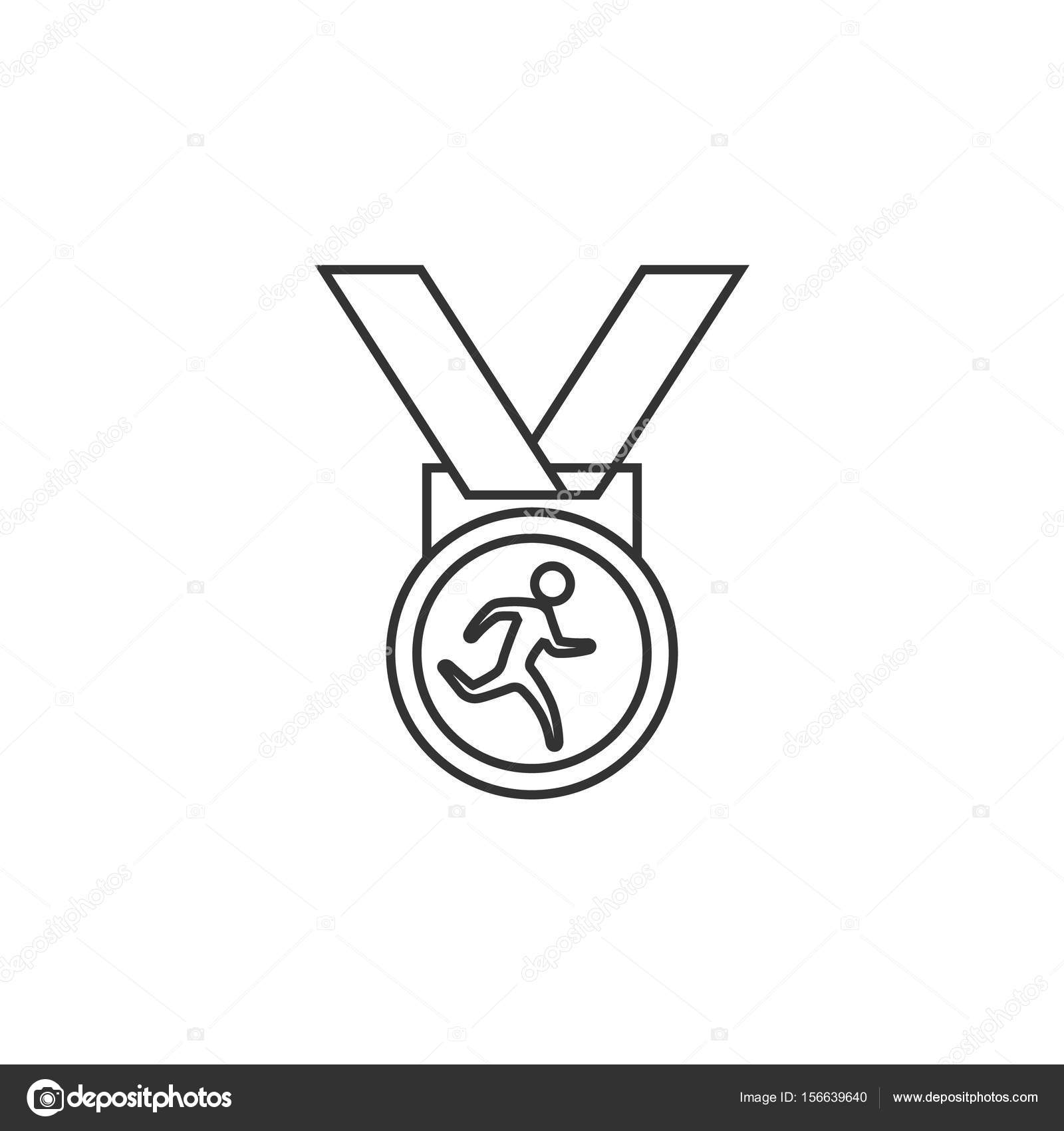 Outline icon - Athletic medal — Stock Vector © puruan #156639640