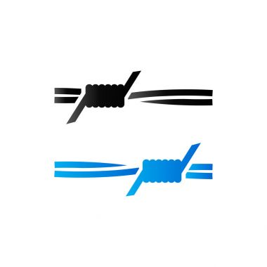 Duo Tone Icon - Barbed Wire