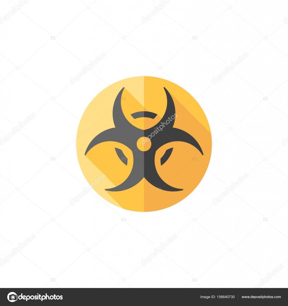 Biohazard Symbol Icon Stock Vector Puruan 156640730